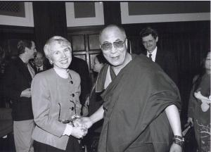 With the Dalai Lama